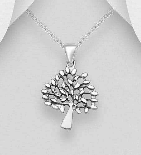 925 Sterling Silver Tree Of Life Pendant and Chain